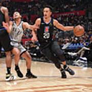 San Antonio Spurs V La Clippers Art Print