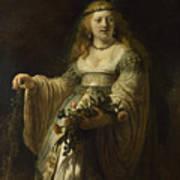Saskia Van Uylenburgh In Arcadian Costume  Art Print