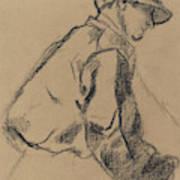 Study Of A Jockey Art Print