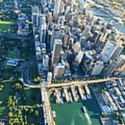 Sydney Downtown - Aerial View Art Print