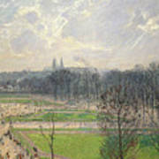 The Garden Of The Tuileries On A Winter Afternoon  Art Print