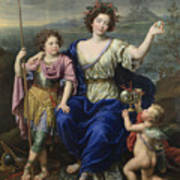 The Marquise De Seignelay And Two Of Her Sons  Art Print