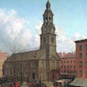 The North Dutch Church  Fulton And William Streets  New York  Art Print