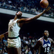 Boston Celtics - Bill Russell Art Print
