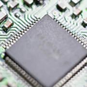 Close-up Of A Circuit Board Art Print