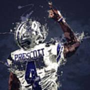 Dallas Cowboys.dak Prescott. Art Print