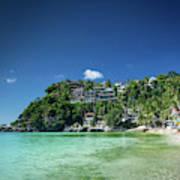 Diniwid Resort Beach View In Tropical Paradise Boracay Island Ph Art Print