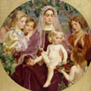 Madonna Of Giverny  Art Print