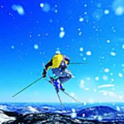 Man Skiing Art Print