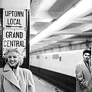 Marilyn In Grand Central Station Art Print