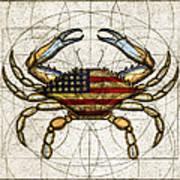 4th Of July Crab Art Print