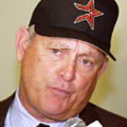 Houston Astros Sign Nolan Ryan To Art Print
