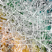Milan Italy City Map Art Print