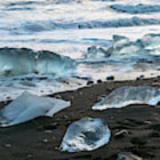The Diamond Beach, Jokulsarlon, Iceland Art Print