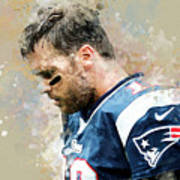 Tom Brady.new England Patriots. Art Print