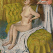 Woman Having Her Hair Combed  Art Print