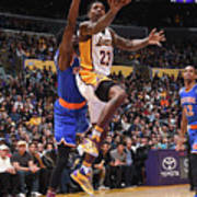 New York Knicks V Los Angeles Lakers Art Print