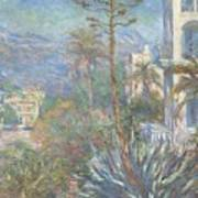Villas At Bordighera  Art Print