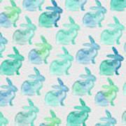 Watercolor Bunnies 1i Art Print