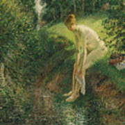 Bather In The Woods  Art Print