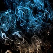 Blue, Creative Abstract Vitality Impact Art Print