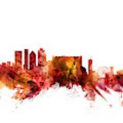 Cape Town South Africa Skyline Art Print