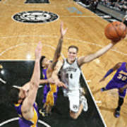 Los Angeles Lakers V Brooklyn Nets Art Print