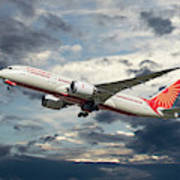 Air India Boeing 787-8 Dreamliner Art Print