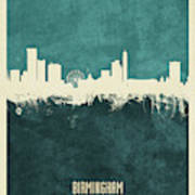 Birmingham England Skyline Art Print