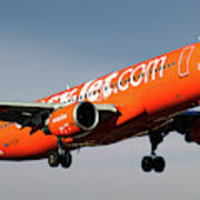 Easyjet 200th Airbus Livery Airbus A320-214 Art Print