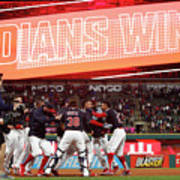 Boston Red Sox V Cleveland Indians 9 Art Print