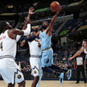 Denver Nuggets V Memphis Grizzlies Art Print