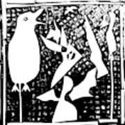 A Bird Hunting Birds 4 Art Print
