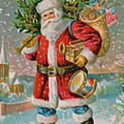 A Bright Christmas Illustration Art Print
