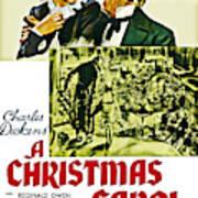 A Christmas Carol Movie Poster 1938 Art Print