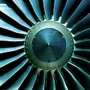 A Close Of Up A Turbine Showing The Art Print