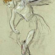 A Dancer In Profile Art Print