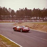 A Ferrari 250 P At Le Mans, France Art Print