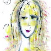 A Girl By The Artist Catalina Lira Art Print