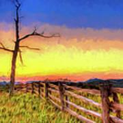 A Gorgeous Blue Ridge Sunrise Ap Art Print