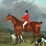 A Huntsman And Hounds, 1824  Art Print
