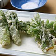 A Japanese Dish Of Wild Plants Art Print