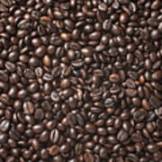 A Lot Of Roasted Coffee Beans Which Art Print