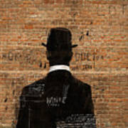 A Man In A Hat Who Turned His Back On Us Art Print