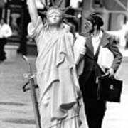 A Model Of Lady Liberty Was Being Sold Art Print