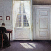 A Room In The Artist's Home In Strandgade, Copenhagen, With The Artist's Wife - Digital Remastered Art Print