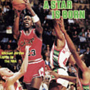 A Star Is Born Michael Jordan Lights Up The Nba Sports Illustrated Cover Art Print