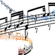 A Stave Of Music Art Print
