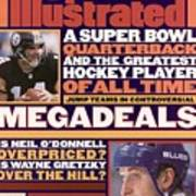 A Super Bowl Quarterback And The Greatest Hockey Player Of Sports Illustrated Cover Art Print