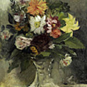 A Vase Of Flowers, 1833 Art Print